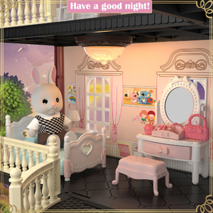 8f55d9d1 0281 478d 8536 baa6a3fec8f2.  CR0,0,300,300 PT0 SX300 V1    - MITCIEN Dollhouse Kit Playset Little Critters Bunny Dolls for Girls with Swimming Pool and Slideside Family Toys for Toddler 3 4 5 6 Year Old Girl