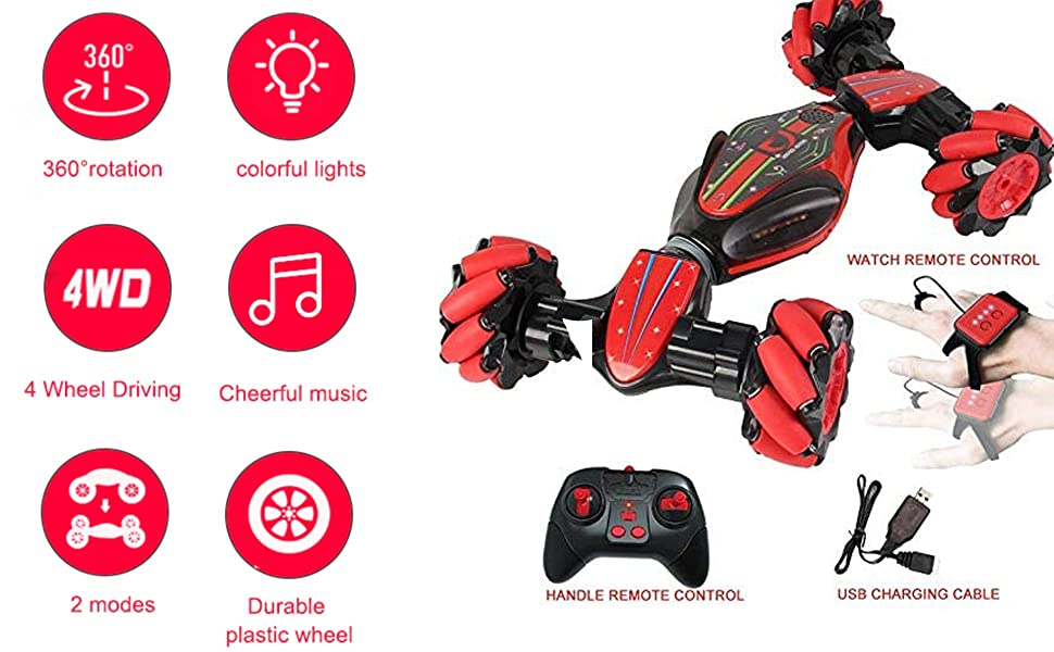 93ae476a 9fa3 450f b757 c4d8eb02b619.  CR0,0,1940,1200 PT0 SX970 V1    - Boxgear Gesture Sensing RC Stunt Car with Off-Road, Four-Wheel Drive, Sports Mode, 40 Min Standby Suitable for Any Terrain, 2.4G Gesture Controlled Double-Sided Remote-Control Car Toy for Kids, Blue