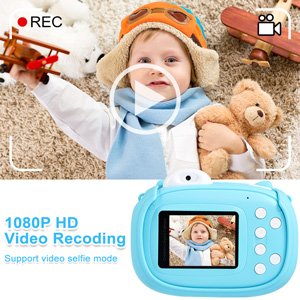 """9923ef2a 796b 4f50 9f97 7a362900afe8.  CR0,0,300,300 PT0 SX300 V1    - Instant Camera for Kids Camera for Boys 40MP Digital Camera for Kids Selfie Video Camera with Print Paper, 2.4"""" Screen Toddler Camera Children Toy Camera for Kids 3 4 5 6 7 8-10 12, 32G TF Card, Blue"""