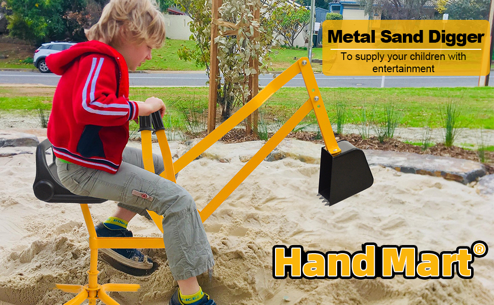 9eedc5e7 2038 4b58 a72b 8dbf8d61e8c5.  CR0,0,970,600 PT0 SX970 V1    - Hand-Mart Kids Ride On Sand Digger, 360° Rotatable Excavator Toy Crane with Base for Sand, Dirt, Snow, Beach, Heavy Duty Steel Digging Toys for Boys Girls, Sandbox Digger for Kids Outdoor
