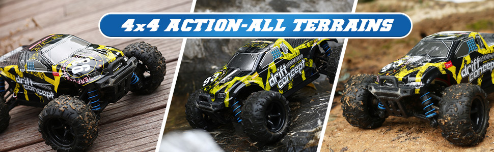 a7c250ce ae0c 4679 896e d9481a6f75d2.  CR0,0,970,300 PT0 SX970 V1    - 1/18 RC Cars High Speed Remote Control Car for Adults Kids 30+MPH, 4WD Off-Road RC Monster Truck, Fast 2.4GHz All Terrains Toy Trucks Gifts for Boys, with 2 Rechargeable Batteries for 40Min Play