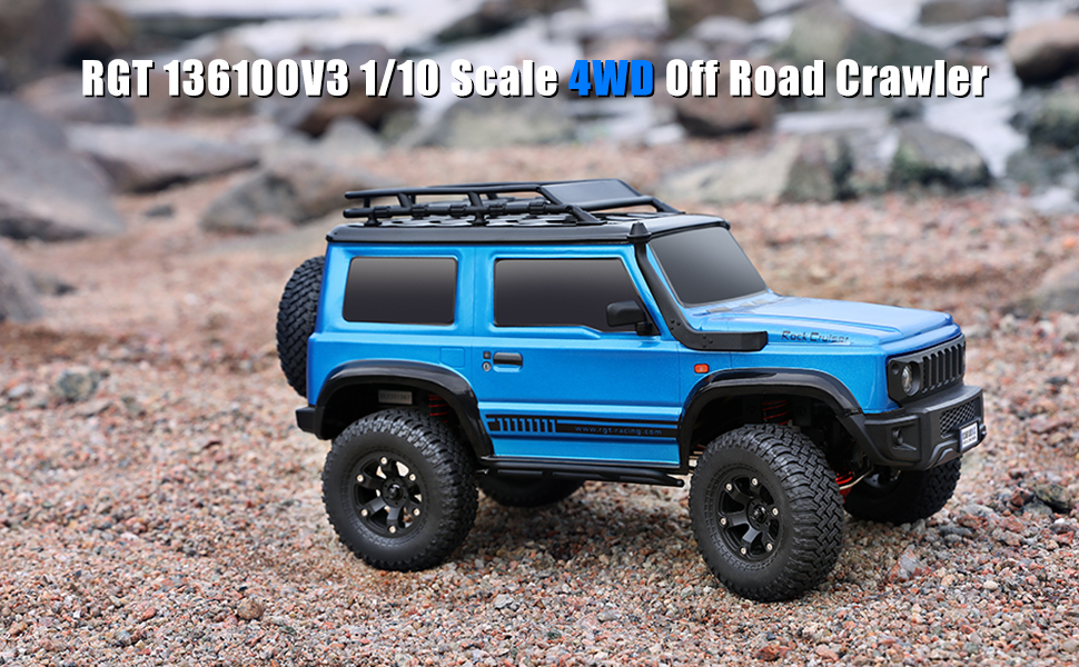 ba7326f5 3964 42b9 81a9 b611e6b852c5.  CR0,0,970,600 PT0 SX970 V1    - RGT RC Crawler 1:10 4wd Crawler Off Road Rock Cruiser RC-4 136100V3 4x4 Waterproof Hobby RC Car Toy for Adults (Blue)