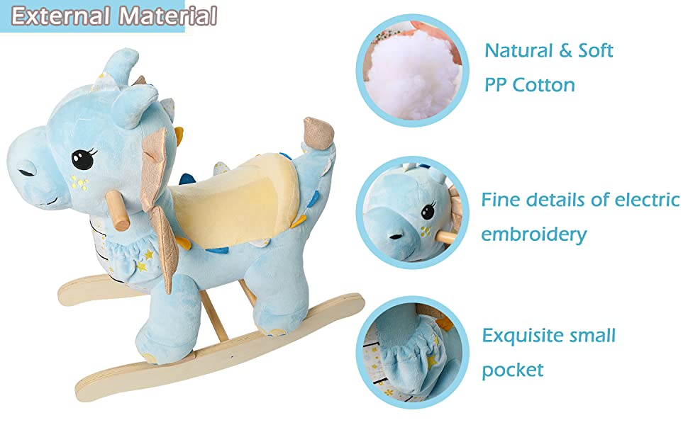 d6ddb1a6 8b6c 4504 80c9 3038c56906a2.  CR0,0,1455,900 PT0 SX970 V1    - labebe - Baby Rocking Horse, Child Blue Winged Dragon Rocker, Toddler Ride on Toys for Kid 1-3 Years Old, Wooden Rocking Chair Animal for Girl&Boy
