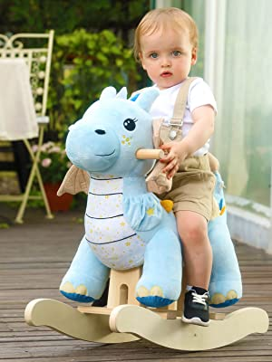 d751f73c 4473 4f7d 9f58 3e4cd40cca8c.  CR188,0,1125,1500 PT0 SX300 V1    - labebe - Baby Rocking Horse, Child Blue Winged Dragon Rocker, Toddler Ride on Toys for Kid 1-3 Years Old, Wooden Rocking Chair Animal for Girl&Boy
