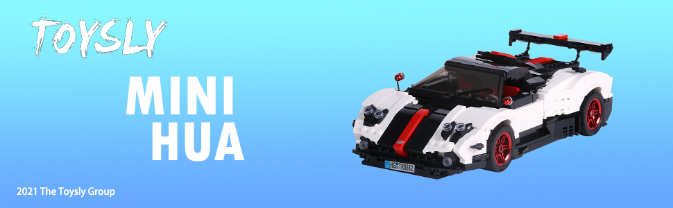 dc69f38e 03dd 4d10 a413 280760a515c1.  CR0,0,970,300 PT0 SX970 V1    - TOYSLY Mini Sports Car Zoda MOC Building Blocks and Construction Toy, Adult Collectible Model Cars Set to Build, 1:14 Scale Race Car Model (960 Pcs)