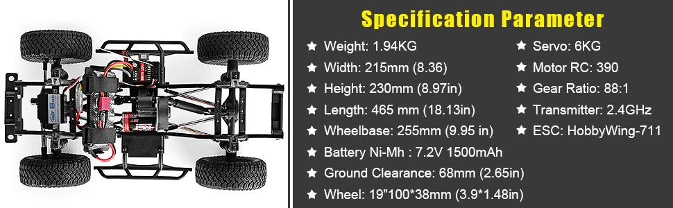 dd20c58d f8d1 48d5 9a4a cc780d54b3e6.  CR0,0,970,300 PT0 SX970 V1    - RGT RC Crawler 1:10 4wd Crawler Off Road Rock Cruiser RC-4 136100V3 4x4 Waterproof Hobby RC Car Toy for Adults (Blue)