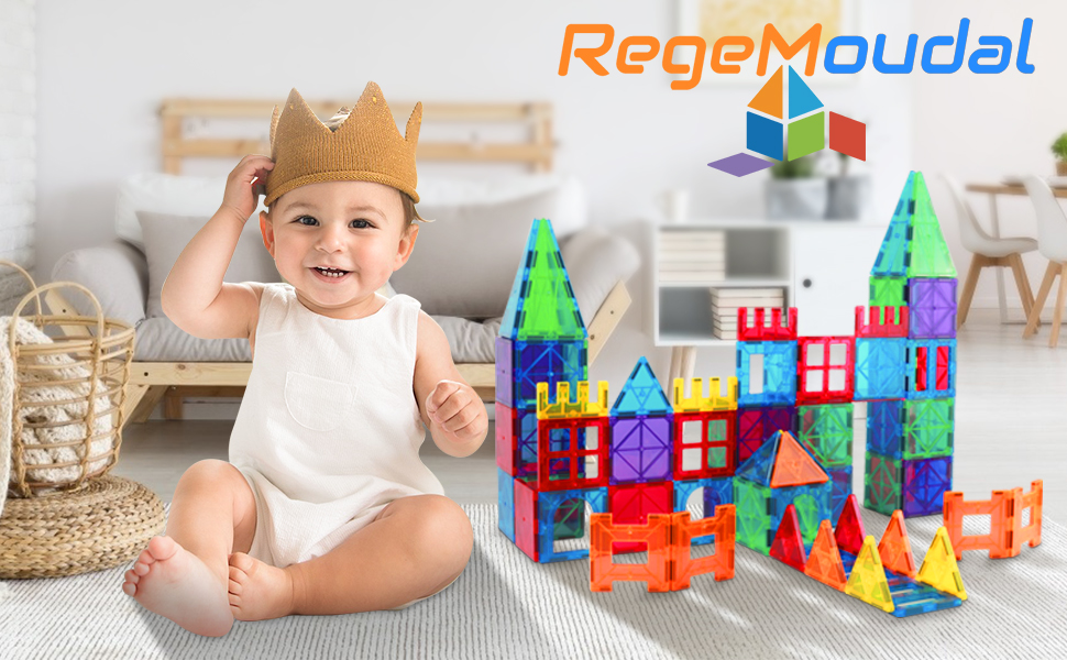 e807c65f 5b68 4603 b7cd 92ac0b608c7a.  CR0,0,970,600 PT0 SX970 V1    - Magnetic Building Blocks Game Toy, 75 Pcs 3D Magnetic Tiles Construction Playboards Kit Develop Kids Imagination, Inspiration and Fine Motor Skills in Children Educational Toys for Age 3 - 8 Year-Old