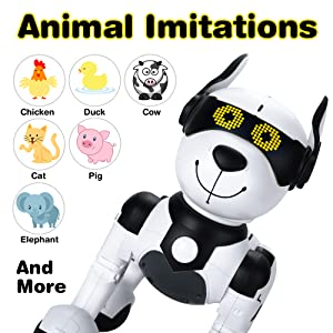 f050b0bf 80a9 42b3 bb5c 2aac6899e939.  CR0,0,2000,2000 PT0 SX300 V1    - Contixo R4 IntelliPup Robot Dog, Walking Pet Toy Robots for Kids, Remote Control, Interactive & Smart Dancing Dance, Voice Commands, RC Dog for Gift Toy for Girls & Boys Ages 2,3,4,5,6,7,8,9,10 Years