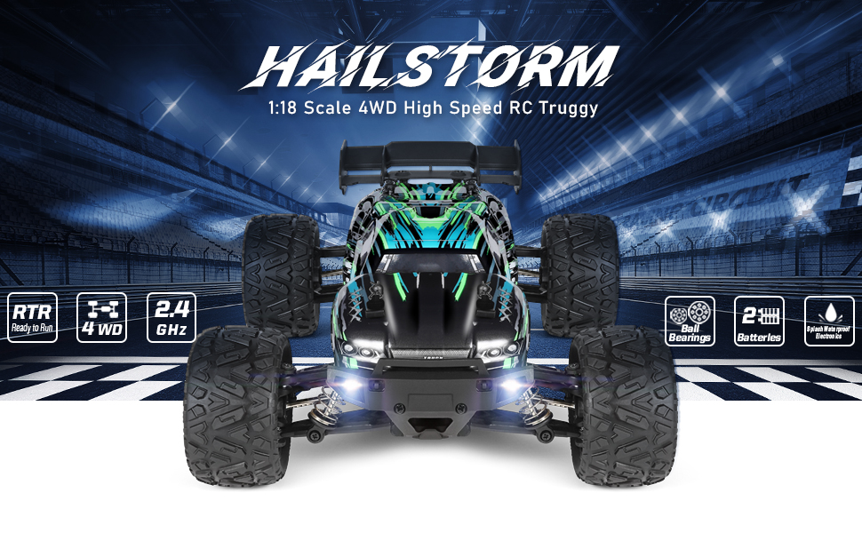 f0d67567 bbc2 4cc9 aaa0 24146eba4cb2.  CR0,0,970,600 PT0 SX970 V1    - HAIBOXING RC Cars Hailstorm, 1:18 Scale 4WD High Speed 36+ km/h Remote Control Car Off Road Monster RC Truck with 2 Batteries 40 mins Play, Waterproof RC Toys Truggy Gifts for Kids and Adult