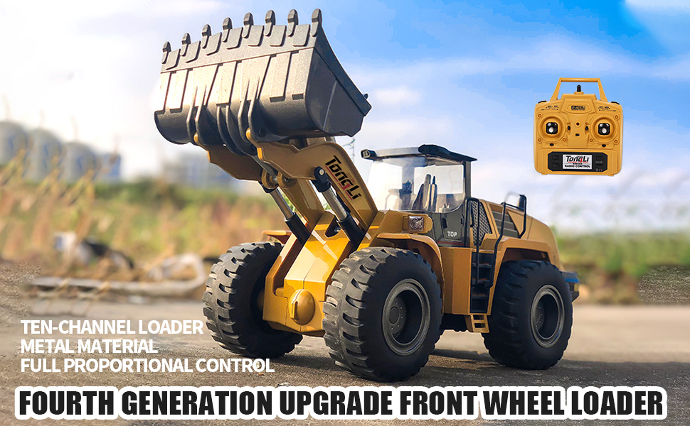f2dadee1 b4c7 43b6 ab99 13417810e907.  CR0,0,970,600 PT0 SX970 V1    - TongLi 583 1:14 Scale Metal RC Wheel Loader Toy Construction Trucks Vehicles Remote Control Outdoor Toys Bulldozer for Adults 2.4Ghz Powerful Upgraded with LED Lights and Simulation Sound
