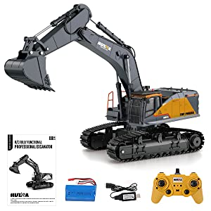 12a4b2e2 5157 4a11 b060 d4c901c828c3.  CR0,0,600,600 PT0 SX300 V1    - Fistone RC Excavator with Alloy Bucket, 1/14 Scale 22 Channel Remote Control Construction Vehicles Truck Die-cast Engineering Excavator Toys for Kids and Adults