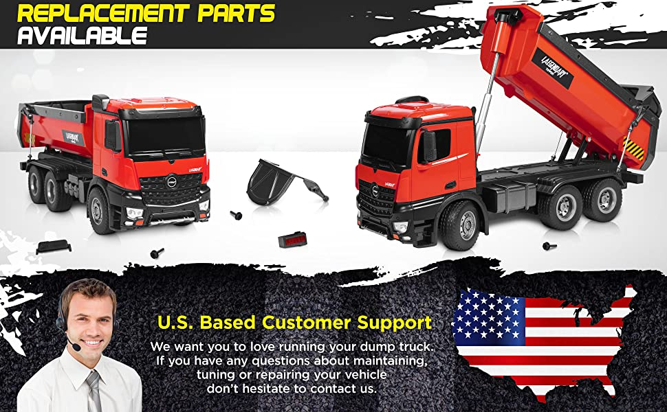 16c30b1b 818a 459c b82a 0f3f9717039d.  CR0,0,3880,2400 PT0 SX970 V1    - 1:14 Scale Large Remote Control Dump Truck for Boys and Adults – Compatible with Excavators RC Construction Vehicles - 10 Channel Full Functional – Metal and Plastic Parts – 2 Batteries & 2 Chargers