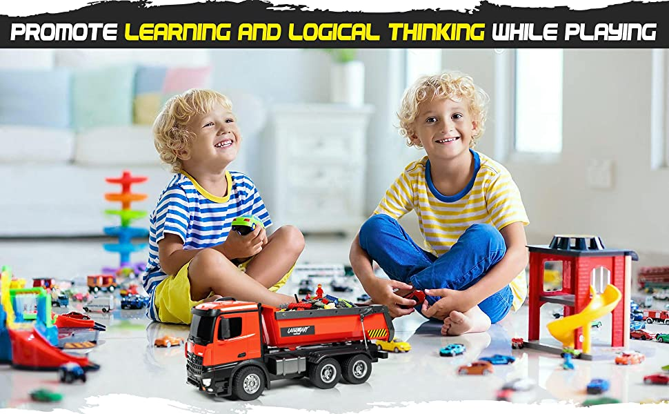 188021a2 aa89 4322 9acc 97aa26ac2293.  CR0,0,3880,2400 PT0 SX970 V1    - 1:14 Scale Large Remote Control Dump Truck for Boys and Adults – Compatible with Excavators RC Construction Vehicles - 10 Channel Full Functional – Metal and Plastic Parts – 2 Batteries & 2 Chargers