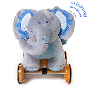 2f23cde9 a531 48dd ad9b 1550217988ae. CR0,0,300,300 PT0 SX300   - labebe - Baby Rocking Horse, Plush Rocking Animal, Toddler/Baby Wooden Rocker Toy for Nursery, Ride on Toy for Girl&Boy 1-3 Years, 2 in 1 Rocking Elephant Blue with Wheel, Kid Riding Horse Toys