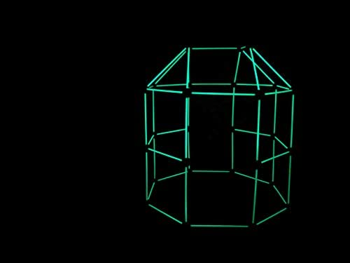 31fOz4p7P1L. AC  - Funphix 77 Pc Fort Building Kit with Glow in The Dark Sticks + Green Sheet - Fun Construction Toy for Age 5+ Creative Play - Encourages Imagination & Teamwork (Blue and Green Balls)
