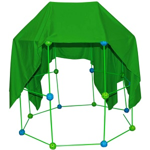 33a7fb86 b5b9 4130 a455 335548f9bf96.  CR0,0,300,300 PT0 SX300 V1    - Funphix 77 Pc Fort Building Kit with Glow in The Dark Sticks + Green Sheet - Fun Construction Toy for Age 5+ Creative Play - Encourages Imagination & Teamwork (Blue and Green Balls)