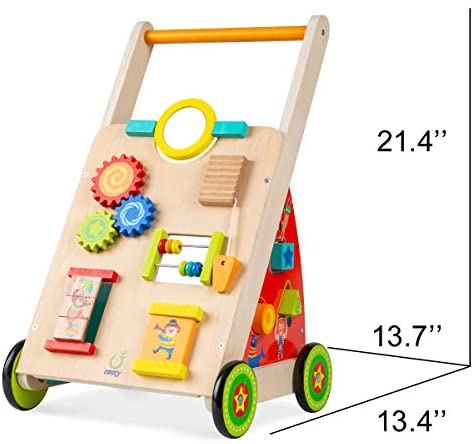 419t+lGIo9L. AC  - cossy Wooden Baby Learning Walker Toddler Toys for 18 Months (Updated Version)