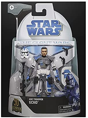 41TkLE0vOgS. AC  - Star Wars ARC Trooper Echo The Clone Wars Toy 6-Inch-Scale Collectible Action Figure with Accessories, Toys for Kids Ages 4 and Up