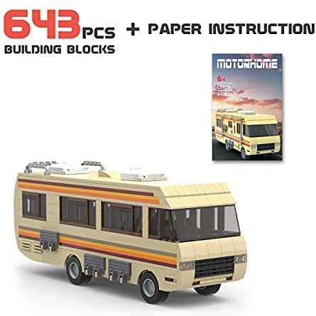 41ny34au0JS. AC  - Breaking Bad RV Building Blocks, Creative House Car Building Bricks Kit Model for Gifts, Educational DIY Building Set Toy for Decoration Party Birthday Festival and Holiday, New 2021(643 PCS)