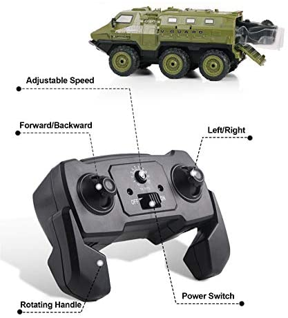 41rS3TBqQIL. AC  - RC Cars, 1/16 Scale RC Military Truck, 6WD 2.4GHz 98 Foot RC Distance, Remote Control Army Armored Car with 2 Batteries for 120 Min Play, All-Terrain Off-Road Army Truck for Adults Kids Boys