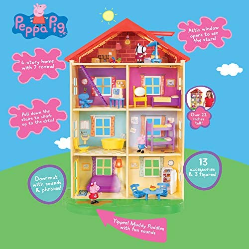 511IYIHjTxL. AC  - Peppa Pig's Lights & Sounds Family Home Feature Playset