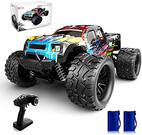 51233YwOhVS. AC  - Tecnock RC Cars RC Trucks for Kids Adults,1:18 Scale 38km/h 4WD High Speed Remote Control Car,2.4 Ghz All Terrain Remote Control Monster Truck for Boys,2 Batteries for 40 Min Play