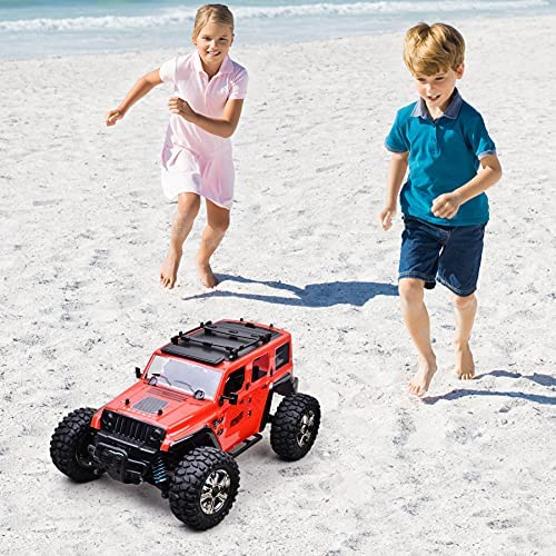 517YqNkVdqS. AC  - MDGZY RC Cars 1:14 Scale, RC Cars for Adults Kids, 35KM/H High Speed, 4WD Waterproof Offroad Toy Gift for Boys Girls, Remote Control Car 2.4Ghz All Terrain Crawler Truck with 2 Rechargeable Battery