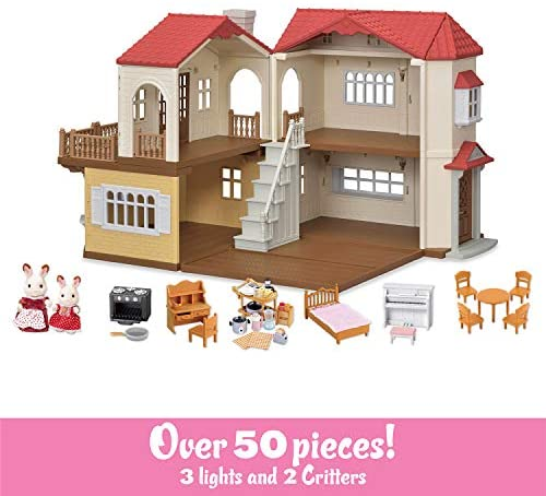51ClrZ3Vm3L. AC  - Calico Critters Red Roof Country Home Gift set