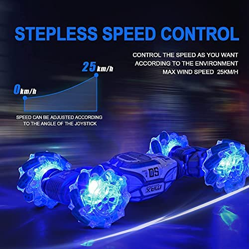 51FR0ou6pjL. AC  - RC Remote Control Car: 2.4Ghz RC Stunt Car Toy with Rechargeable Battery Off 360° Rotation Drift Stunt Road RC Trucks Play Electric Toy Car for Boy Kids Girl
