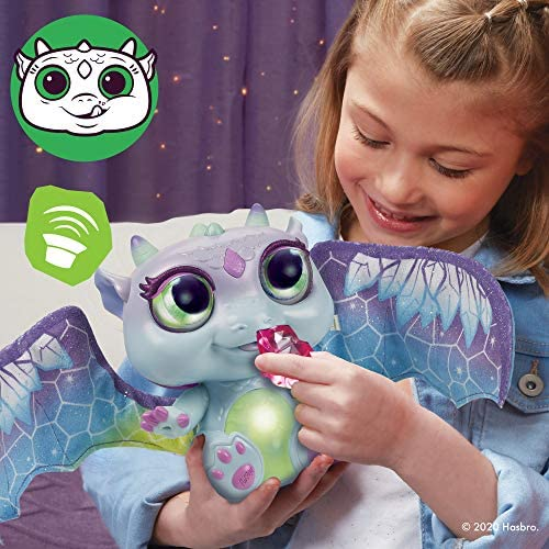 51IaLlC0VsL. AC  - FurReal Moodwings Snow Dragon Interactive Pet Toy, 50+ Sounds & Reactions, Ages 4 and Up (Amazon Exclusive)