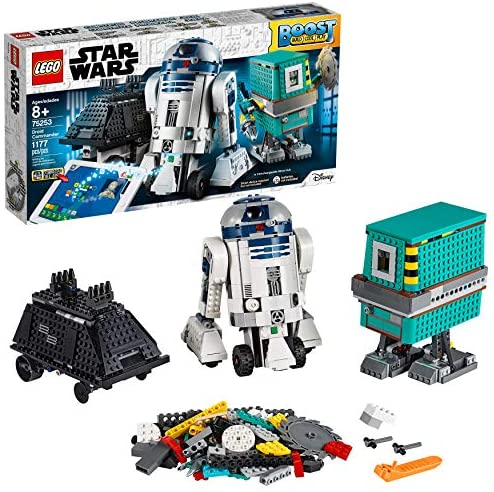 51KZkJuXKkL. AC  - LEGO Star Wars Boost Droid Commander 75253 Learn to Code Educational Tech Toy for Kids, Fun Coding Stem Set with R2 D2 Buildable Robot Toy (1,177 Pieces)