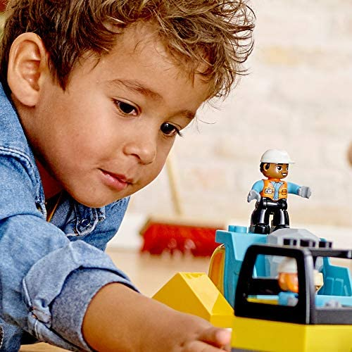 51MfkexmdjL. AC  - LEGO DUPLO Construction Wrecking Ball Demolition 10932 Exclusive Toy for Preschool Kids; Building and Imaginative Play with Construction Vehicles; Great for Toddler Development, New 2020 (56 Pieces)