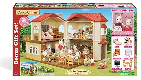 51NNG2ye0oL. AC  - Calico Critters Red Roof Country Home Gift set