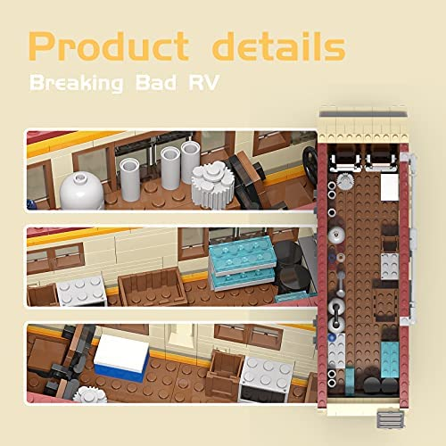 51OCuEHQPtS. AC  - Breaking Bad RV Building Blocks, Creative House Car Building Bricks Kit Model for Gifts, Educational DIY Building Set Toy for Decoration Party Birthday Festival and Holiday, New 2021(643 PCS)