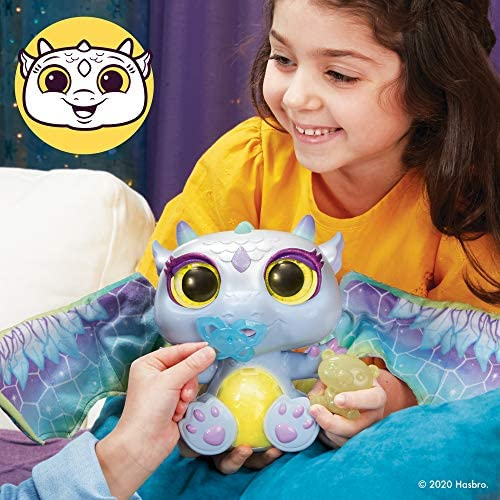 51QMZlqoUfL. AC  - FurReal Moodwings Snow Dragon Interactive Pet Toy, 50+ Sounds & Reactions, Ages 4 and Up (Amazon Exclusive)