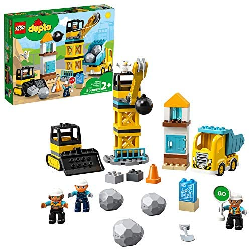 51TjhpOOEDL. AC  - LEGO DUPLO Construction Wrecking Ball Demolition 10932 Exclusive Toy for Preschool Kids; Building and Imaginative Play with Construction Vehicles; Great for Toddler Development, New 2020 (56 Pieces)