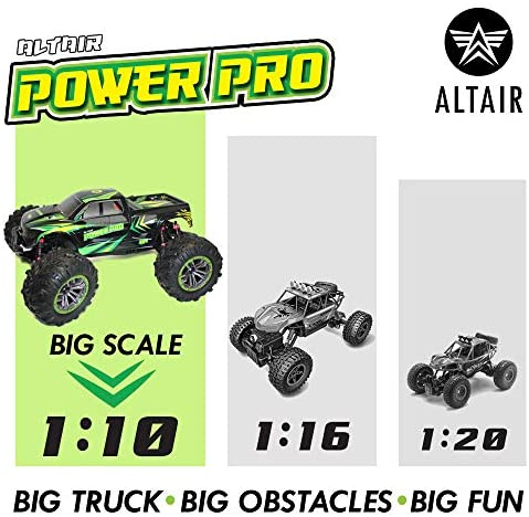 51Ttl0XmTUL. AC  - 1:10 Scale RC Truck 4x4   48+ kmh Speed [30 MPH] Large Scale Remote Control Car   Free Priority Shipping   All Terrain Radio Controlled Off Road Monster Truck for All Ages (Lincoln, NE USA Company)