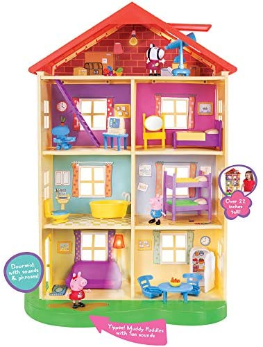 51VULoMd wL. AC  - Peppa Pig's Lights & Sounds Family Home Feature Playset