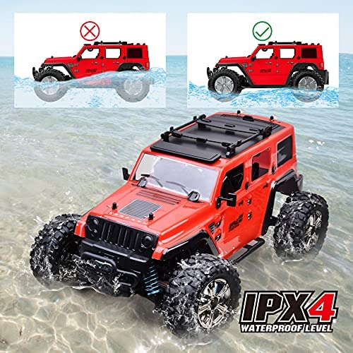 51aiC6fPcqS. AC  - MDGZY RC Cars 1:14 Scale, RC Cars for Adults Kids, 35KM/H High Speed, 4WD Waterproof Offroad Toy Gift for Boys Girls, Remote Control Car 2.4Ghz All Terrain Crawler Truck with 2 Rechargeable Battery