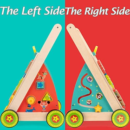 51div0E9yAL. AC  - cossy Wooden Baby Learning Walker Toddler Toys for 18 Months (Updated Version)