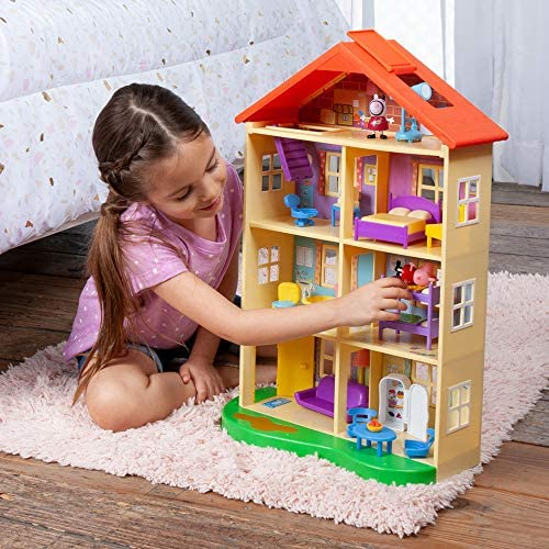51eIgpf5HoL. AC  - Peppa Pig's Lights & Sounds Family Home Feature Playset