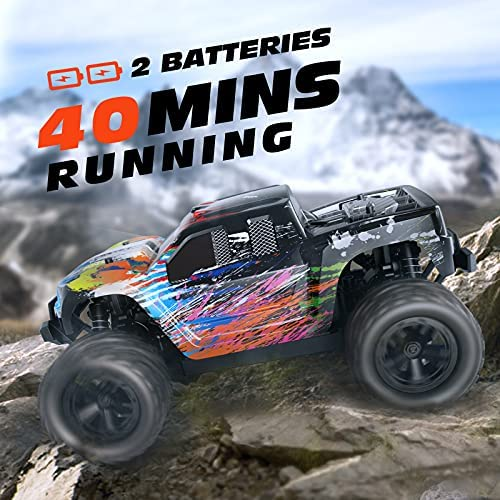 51nJRT+3ZKS. AC  - Tecnock RC Cars RC Trucks for Kids Adults,1:18 Scale 38km/h 4WD High Speed Remote Control Car,2.4 Ghz All Terrain Remote Control Monster Truck for Boys,2 Batteries for 40 Min Play