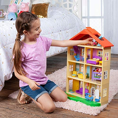 51nyjrN+WcL. AC  - Peppa Pig's Lights & Sounds Family Home Feature Playset