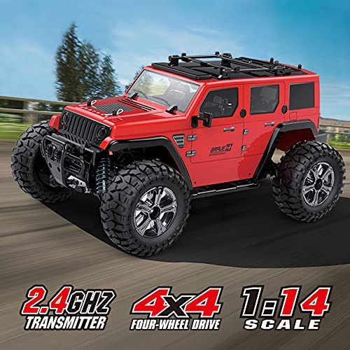 51osrWcFqRS. AC  - MDGZY RC Cars 1:14 Scale, RC Cars for Adults Kids, 35KM/H High Speed, 4WD Waterproof Offroad Toy Gift for Boys Girls, Remote Control Car 2.4Ghz All Terrain Crawler Truck with 2 Rechargeable Battery