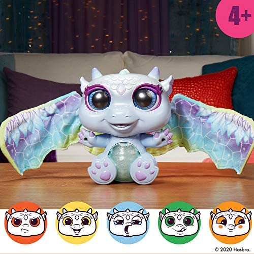 51sTiHh3tvL. AC  - FurReal Moodwings Snow Dragon Interactive Pet Toy, 50+ Sounds & Reactions, Ages 4 and Up (Amazon Exclusive)