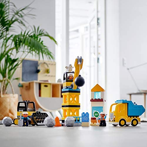 51vGA8jRU9L. AC  - LEGO DUPLO Construction Wrecking Ball Demolition 10932 Exclusive Toy for Preschool Kids; Building and Imaginative Play with Construction Vehicles; Great for Toddler Development, New 2020 (56 Pieces)