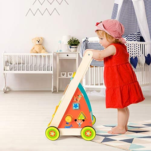 51wwEM+2ZeL. AC  - cossy Wooden Baby Learning Walker Toddler Toys for 18 Months (Updated Version)