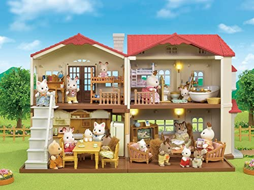51yGNDp5dEL. AC  - Calico Critters Red Roof Country Home Gift set