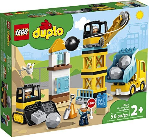 51yZ5KF 4qL. AC  - LEGO DUPLO Construction Wrecking Ball Demolition 10932 Exclusive Toy for Preschool Kids; Building and Imaginative Play with Construction Vehicles; Great for Toddler Development, New 2020 (56 Pieces)
