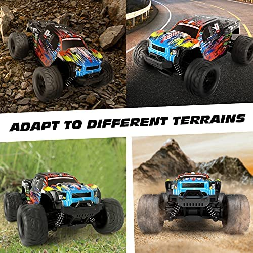 619c9aLYk3S. AC  - Tecnock RC Cars RC Trucks for Kids Adults,1:18 Scale 38km/h 4WD High Speed Remote Control Car,2.4 Ghz All Terrain Remote Control Monster Truck for Boys,2 Batteries for 40 Min Play